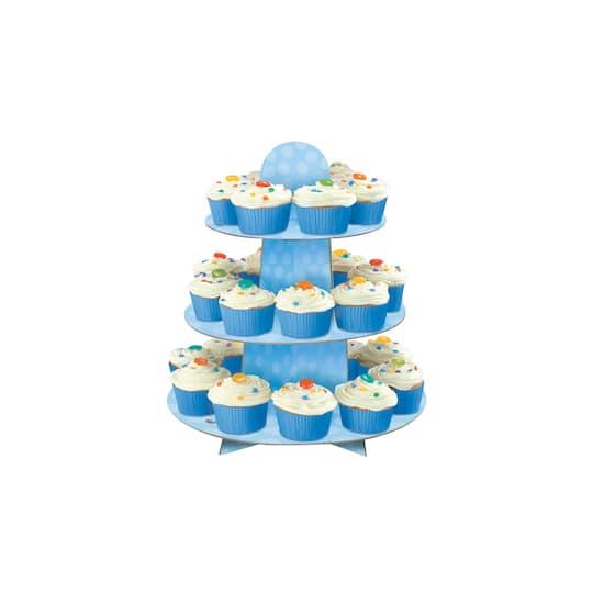 Blue bunny cupcake stand