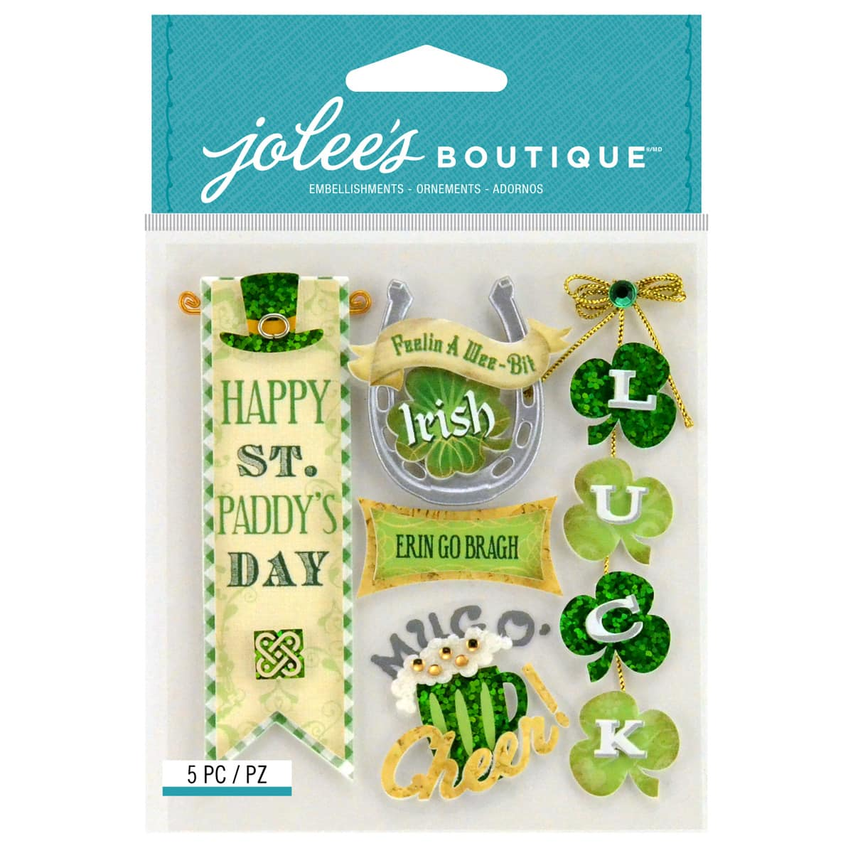 Jolee/'s IRISH WORDS AND PHRASES Boutique Stickers ST PATRICK/'S DAY NEW
