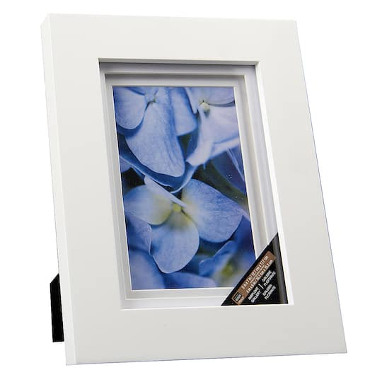 White Gallery Frame With Double Mat By Studio Dcor