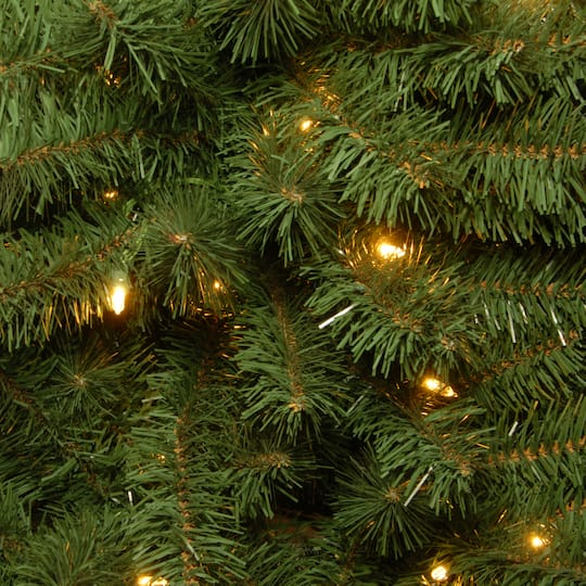 10 ft pre lit dunhill fir hinged full artificial christmas tree lv dual color led lights