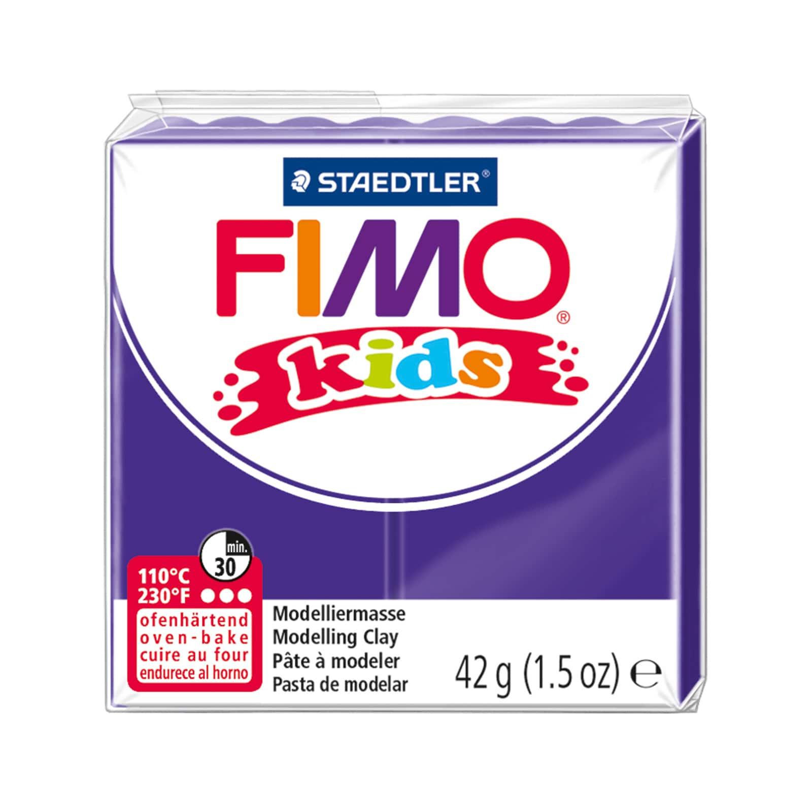 FIMO CLAY Soft Modelling Oven Staedtler Kids Fun Bake Children Craft Red Black