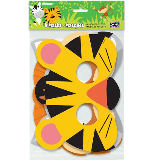 Monkey Tiger Patry Favor Go Wild Party Masks Jungle Party Birthday