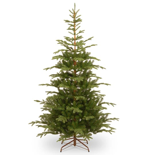 Real Or Fake Christmas Tree: 7.5 Ft. Feel Real® Hinged Norwegian Spruce Slim Artificial