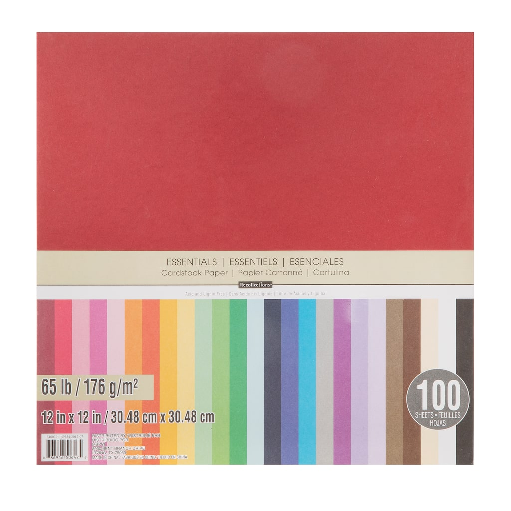Find the Essentials Cardstock Paper By Recollections™ at Michaels