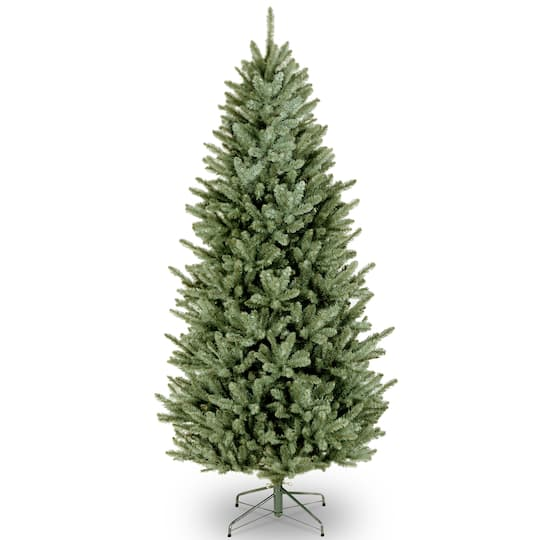 d724be2060309 7.5 ft. Hinged Natural Fraser Fir Slim Artificial Christmas Tree