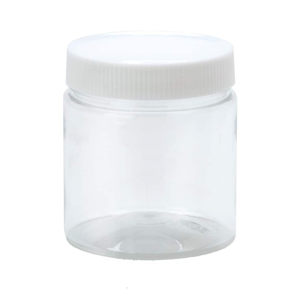 Clear Plastic Jar With Lid