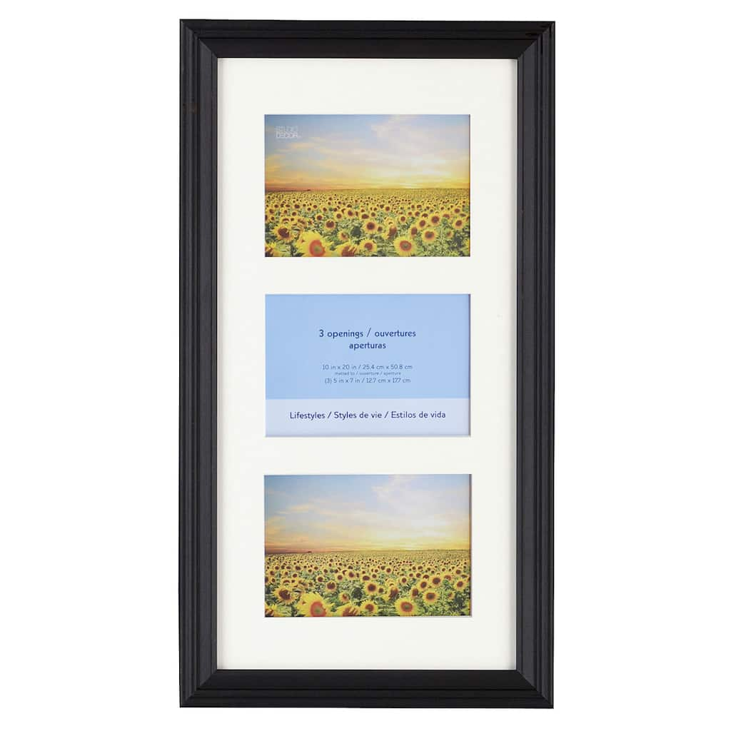 Black 3-Opening Collage Frame, 5\