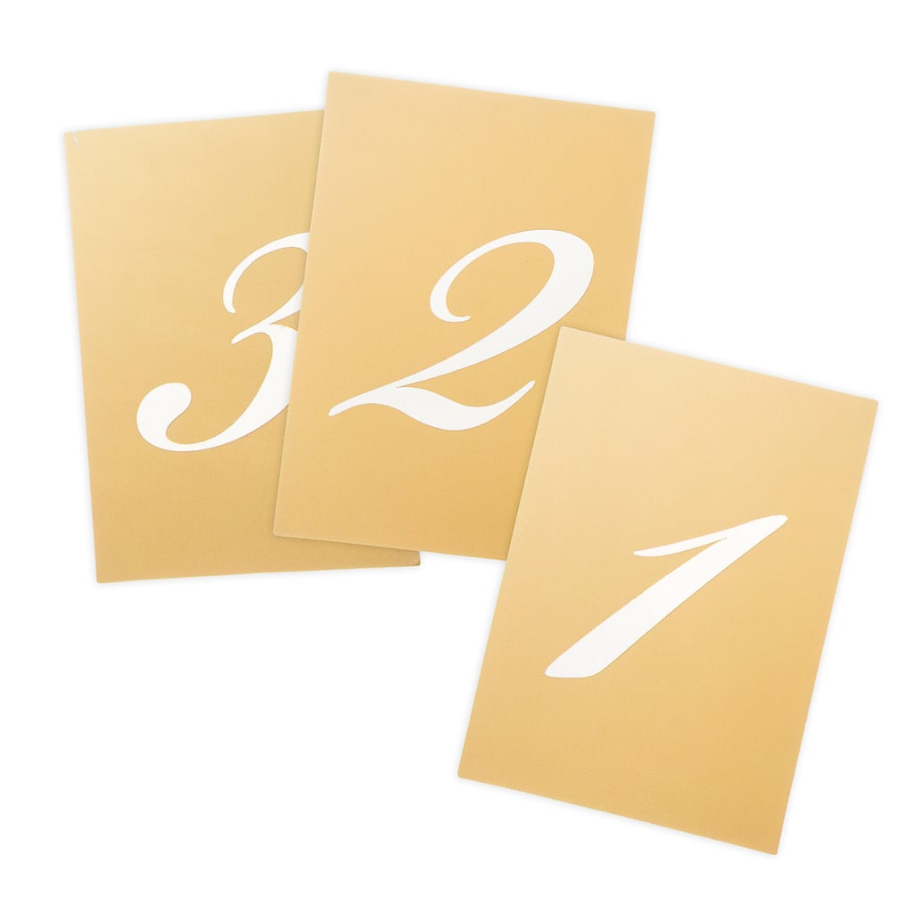 find the david tutera vertical table numbers gold at michaels. Black Bedroom Furniture Sets. Home Design Ideas