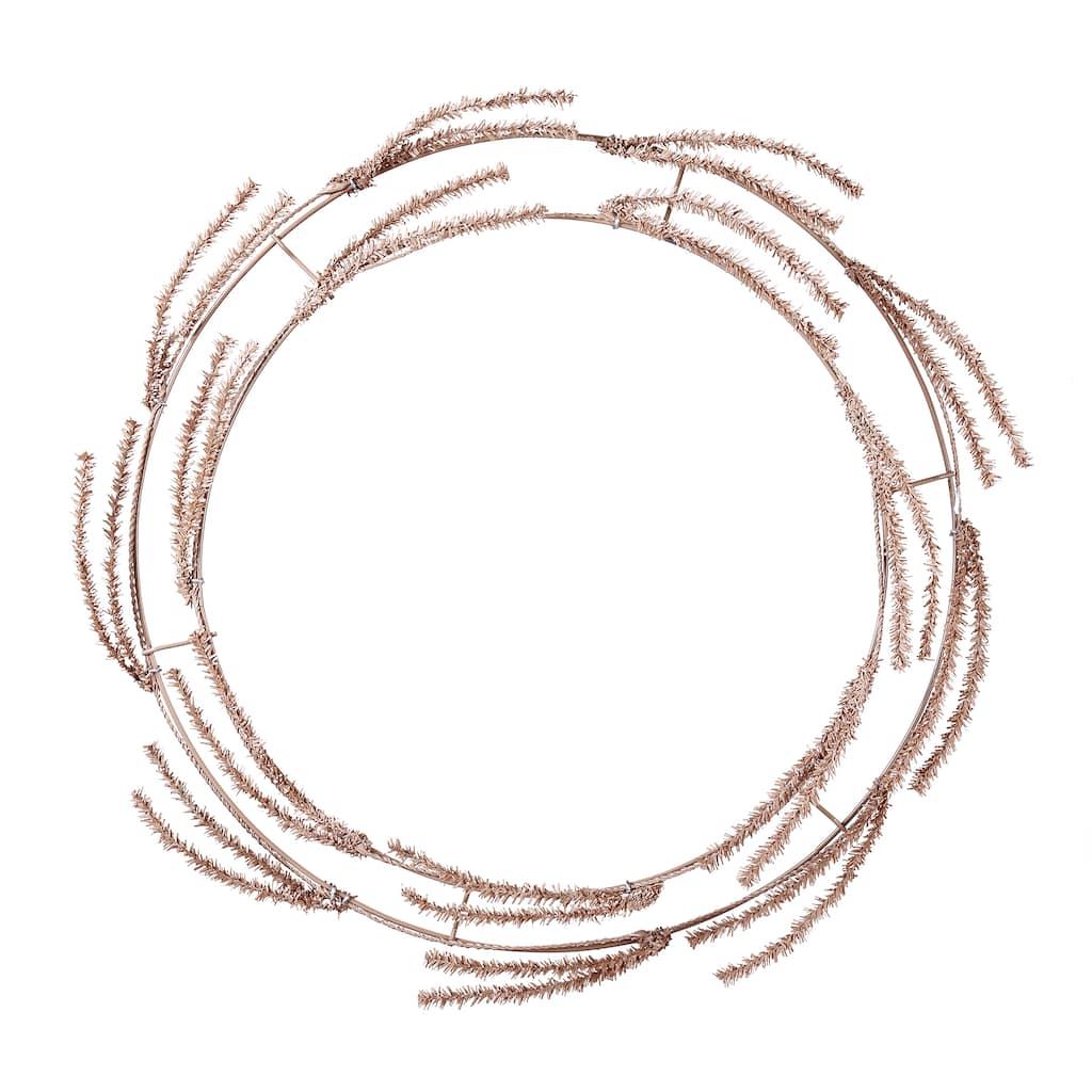 Khaki Wire Wreath Frame With Ties by Ashland®, 16\