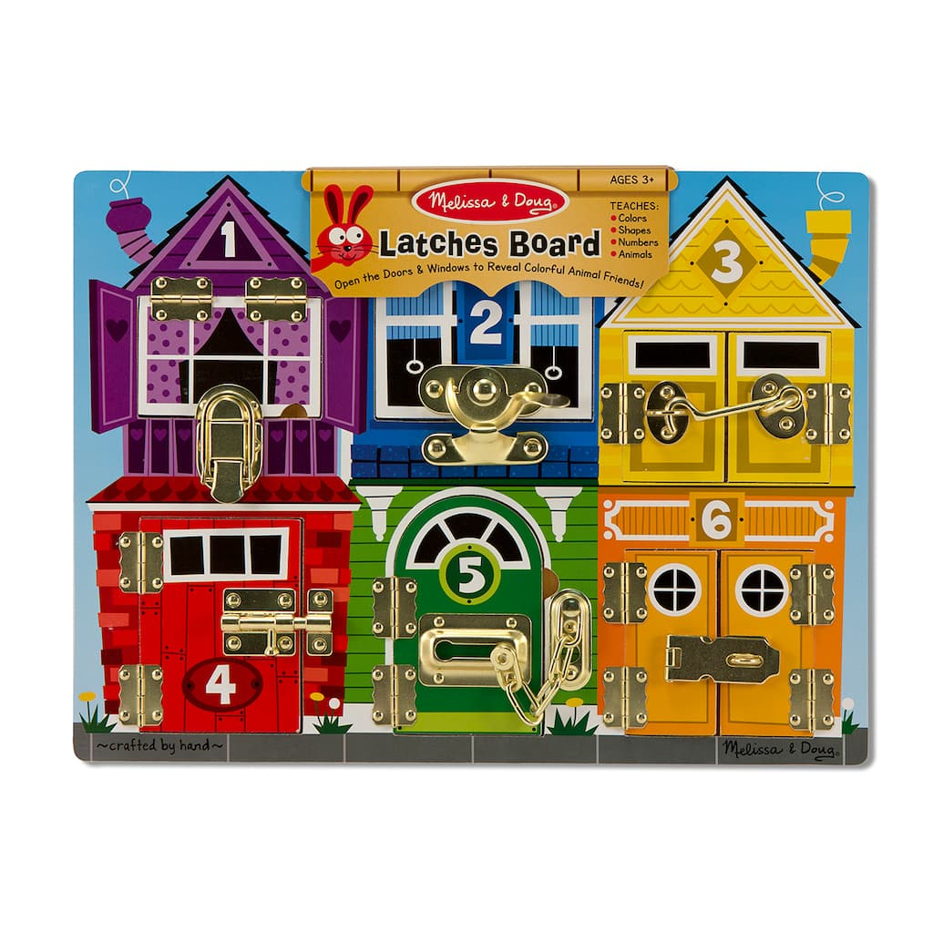 Melissa & Doug® Latches Wooden Learning Board