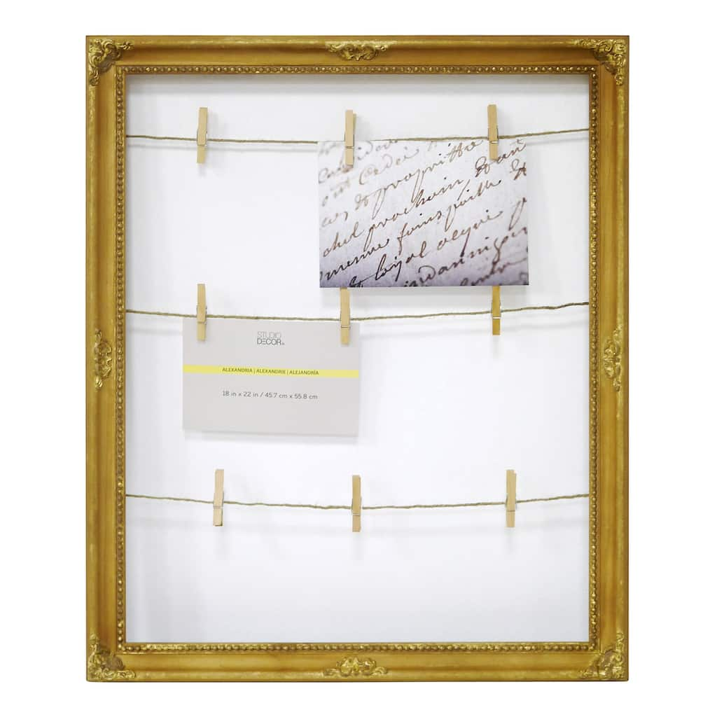 Shop for the Gold Display Board Frame, Alexandria By Studio Décor ...