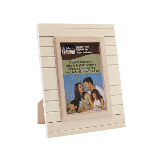 Unfinished Wood Plank Frame by ArtMinds™, 4\