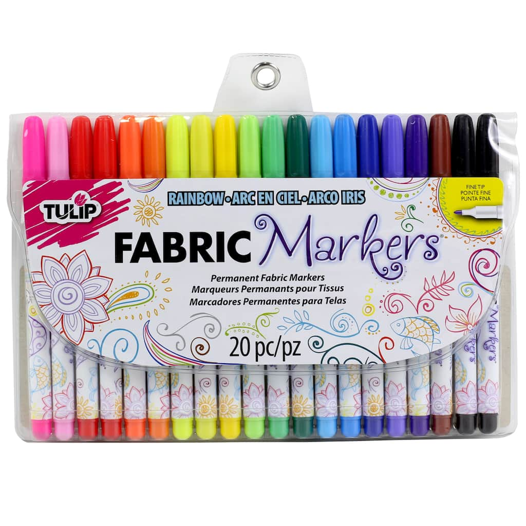 tulip fabric markers fine writers 20 pack