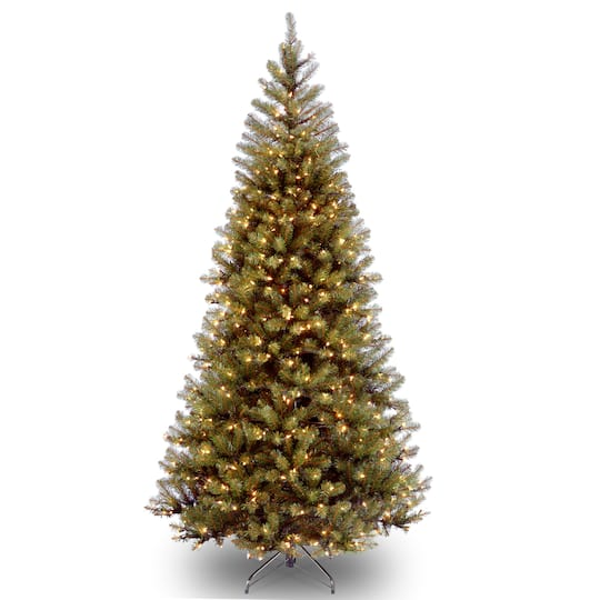 - 6 Ft. Pre-Lit Aspen Spruce Slim Artificial Christmas Tree, Clear Lights