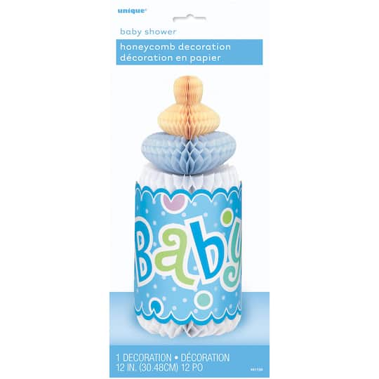 12 Blue Polka Dot Boy Baby Shower Centerpiece Decoration
