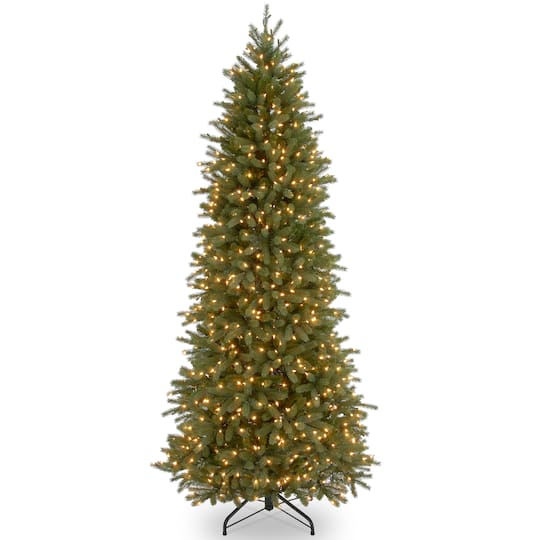 Buy the 9 Ft. Pre-Lit Feel Real® Jersey Fraser Fir Pencil Slim ...