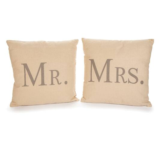 Mr And Mrs Decorative Pillows