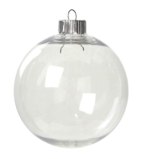 - Clear Plastic Ornaments: 83mm Round Christmas Ornament