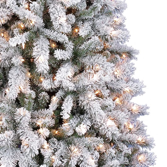 7.5ft. Pre-Lit Vermont Pine Artificial Christmas Tree ...