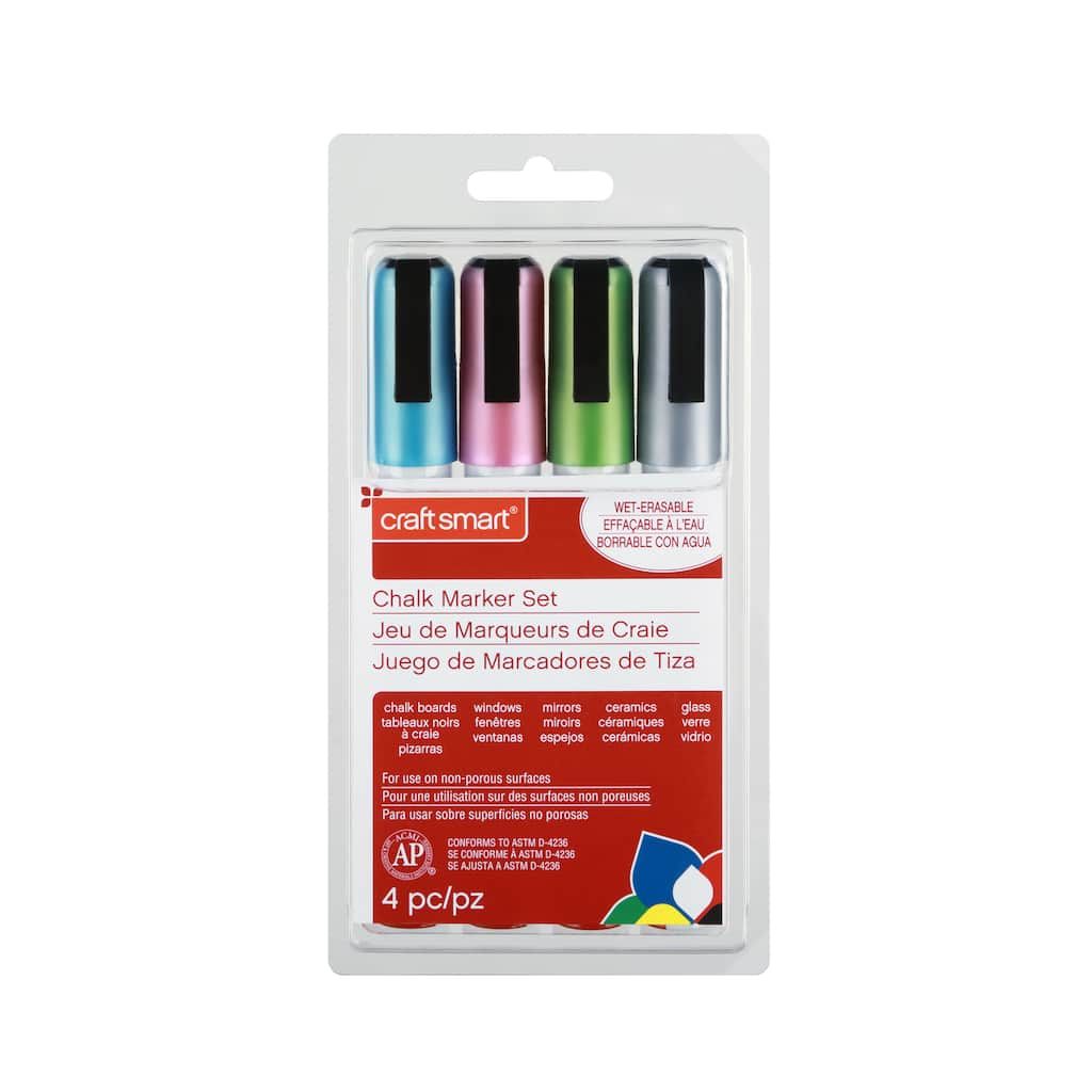 Shop for the Metallic Chalk Marker Set by Craft Smart® at Michaels