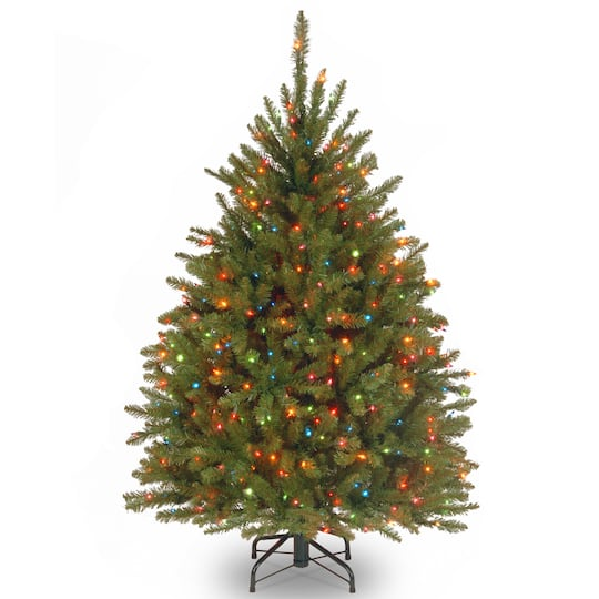 Pre-Lit Dunhill® Fir Full Artificial Christmas Tree, Multicolor Lights.  img. img img img img - Buy The 4.5 Ft. Pre-Lit Dunhill® Fir Full Artificial Christmas Tree