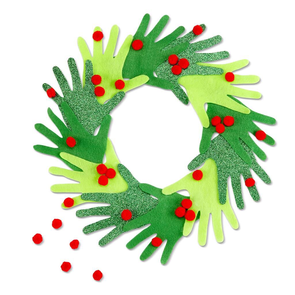 Kid's Hand Christmas Wreath