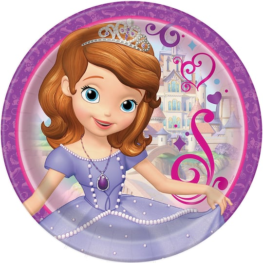 9 Sofia The First Party Plates 8ct