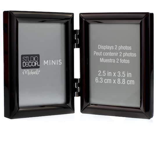 Black Hinged 2 Opening Mini Frame By Studio Décor