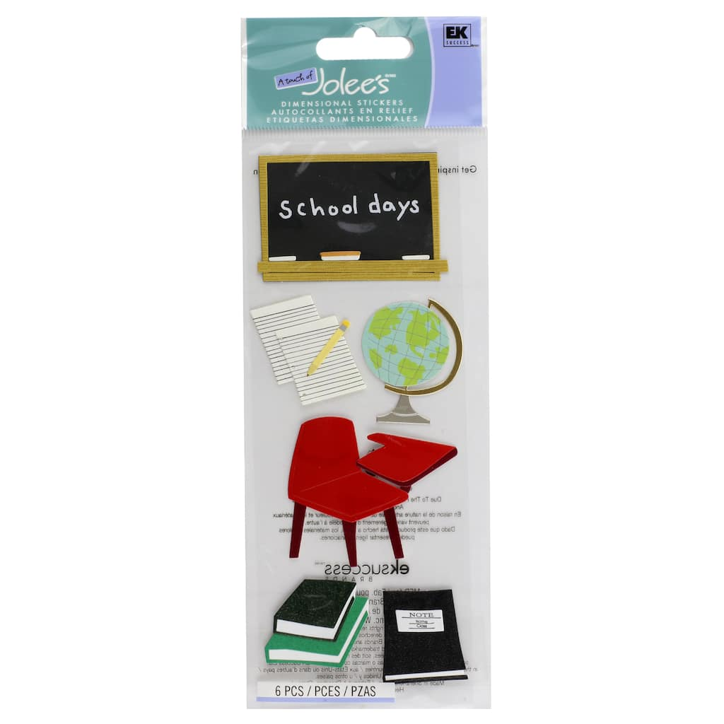 A Touch Of Jolee's® Classroom Dimensional Stickers