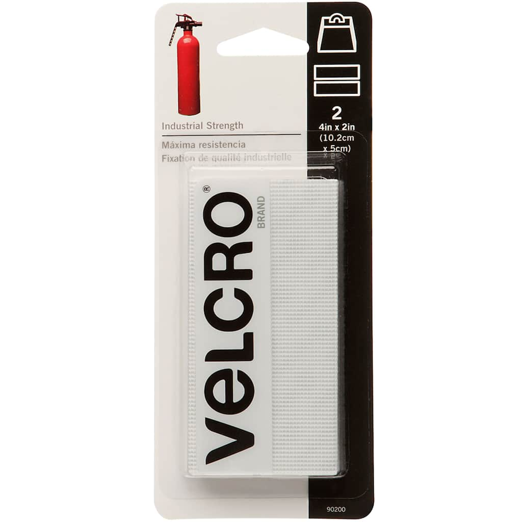 """New 3 Pack Case of 4 Sets VELCRO Brand Industrial Strength Strips 2/"""" x 4/"""" Black"""