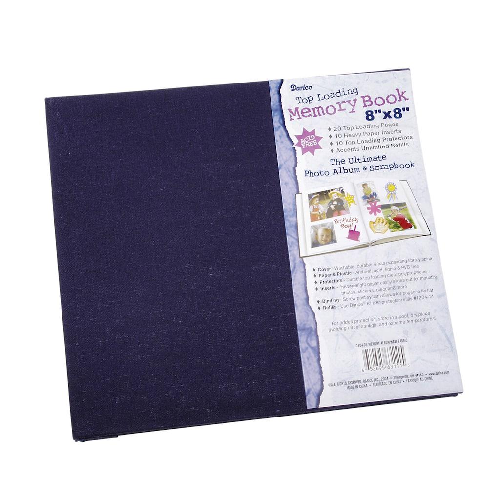 Darice Navy Fabric Scrapbook 8 X 8 Inch