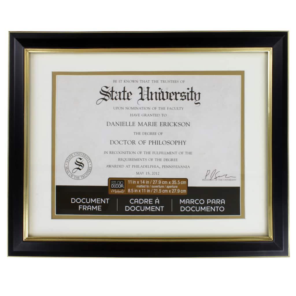 Black & Gold Document Frame, 11\