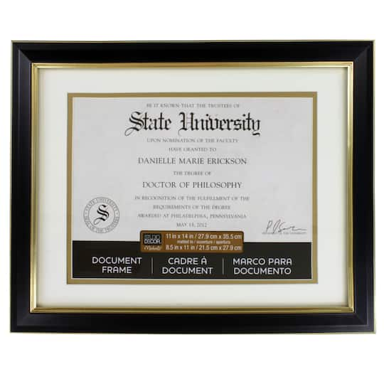 Shop For The Black Gold Document Frame 11 X 14 With 85 X 11
