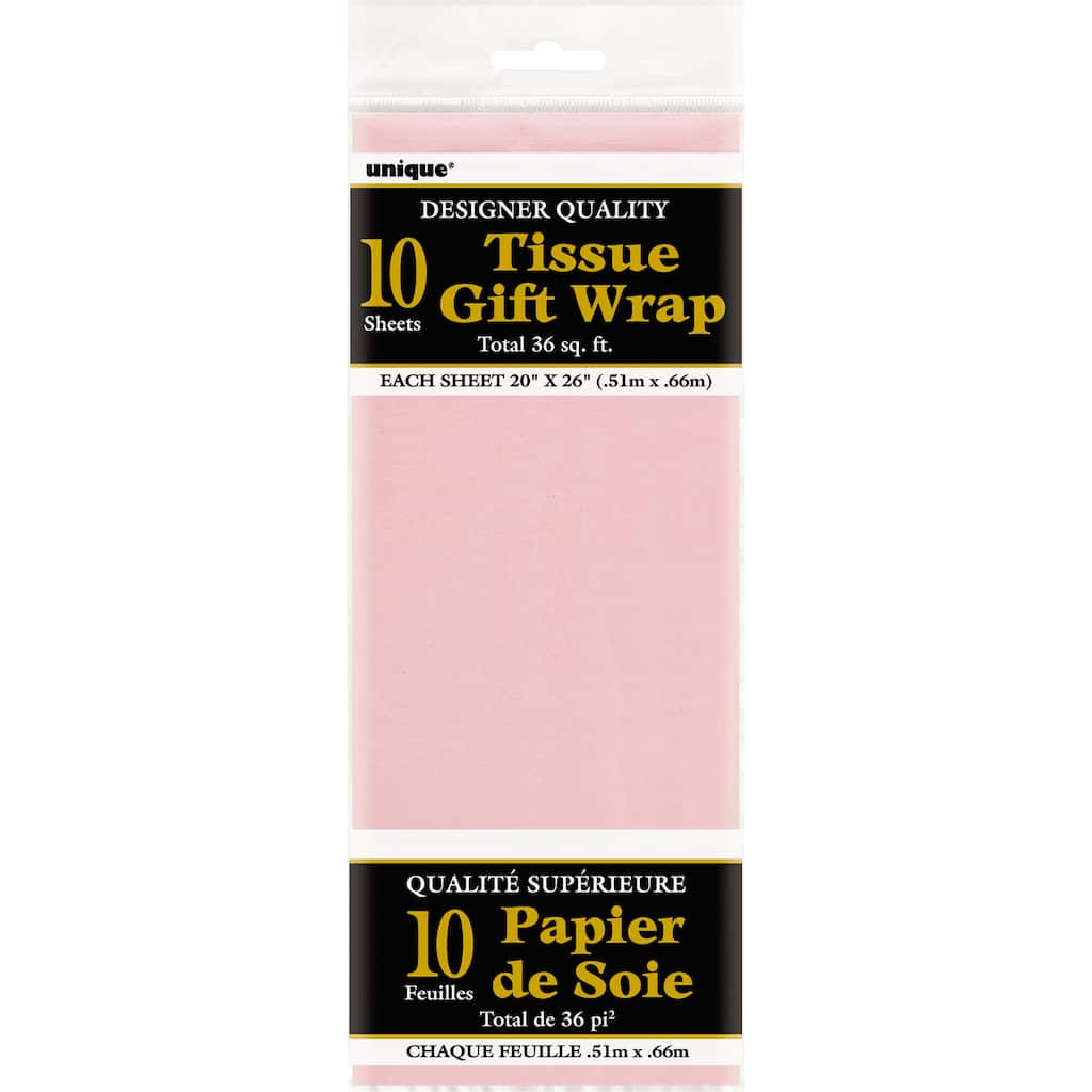 Pink Tissue Paper Perfect for Gift Wrapping Pack of 5 Sheets