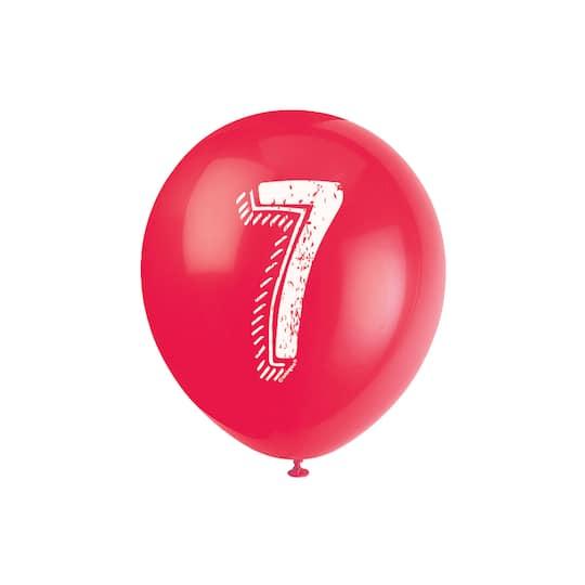 Number 7 Birthday Balloons