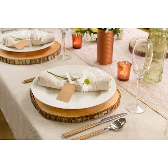 Wood Slice Chargers: David Tutera™ Wood Slice Centerpiece Charger