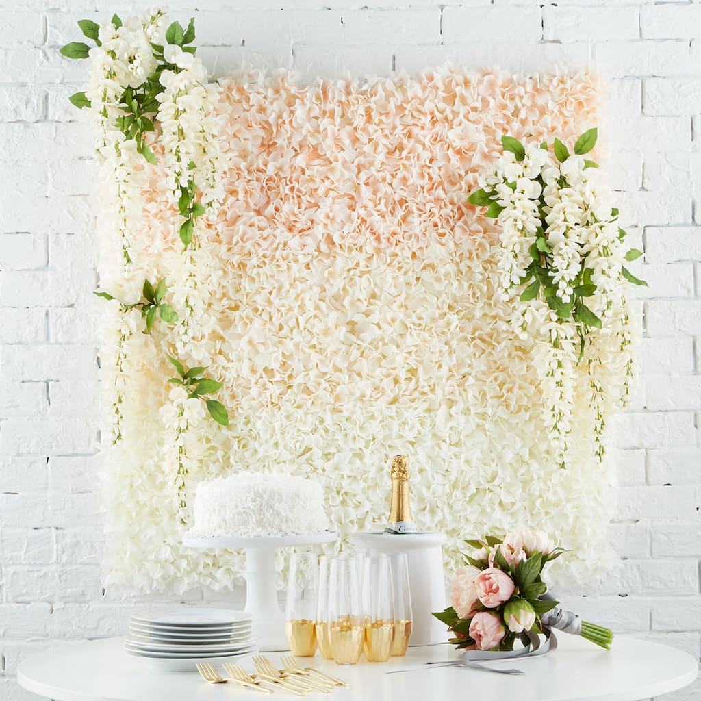 Wedding Site Ideas: Floral Tile Wedding Backdrop Projects