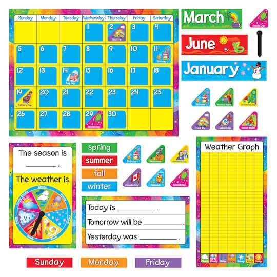 Trend Enterprises Year Around Calendar Bulletin Board Set