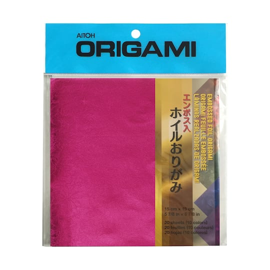 find the aitoh embossed foil origami paper at michaels