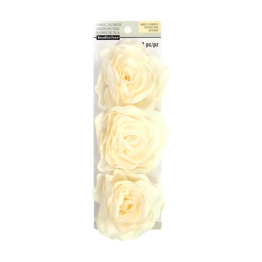 Set of 3 Cream Paper Roses Off White Paper Flowers Michael/'s