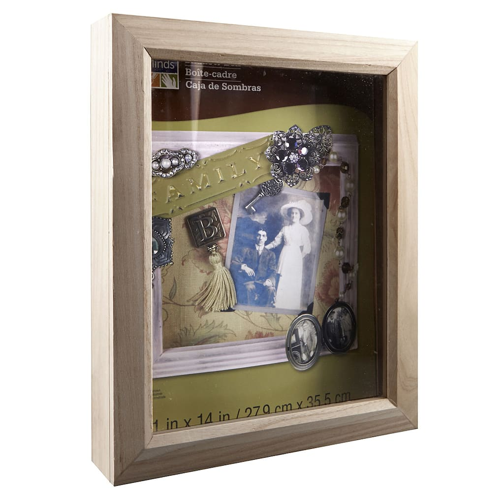 Artminds Shadow Box Unfinished Wood 11 Quot X 14 Quot
