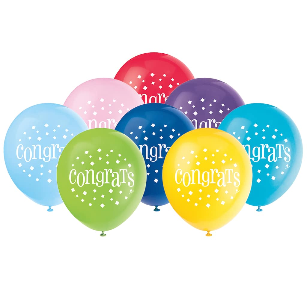 congrats party balloons