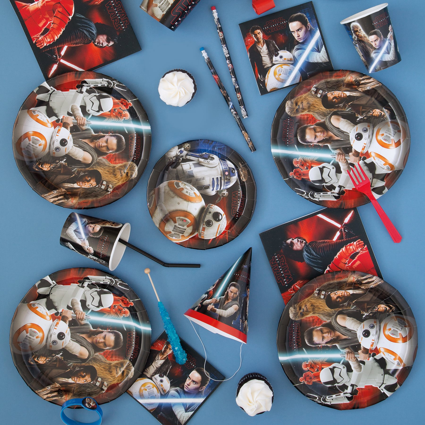 Star War Episode 8 /'THE LAST JEDI/' Paper Masks Boys Birthday Party Favors ~ 8ct