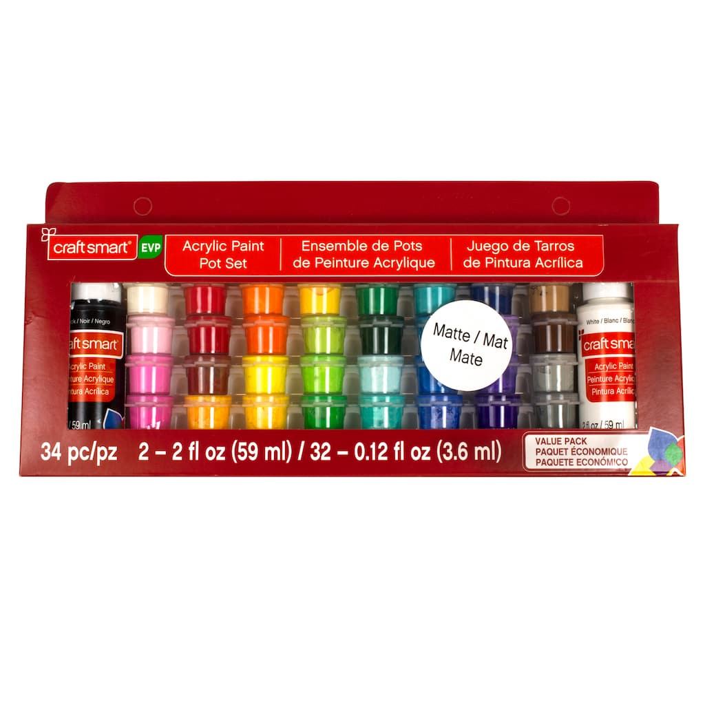 Shop for the Matte Acrylic Paint Pot Value Pack by Craft Smart® at ...