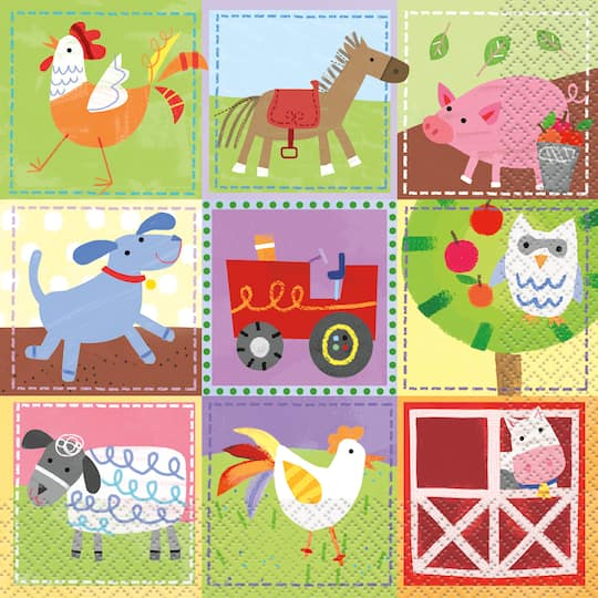 Farm Party Luncheon Napkins 16ct