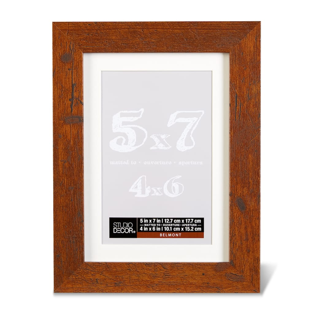 Shop for the Honey Belmont Frame With Mat By Studio Décor® at Michaels