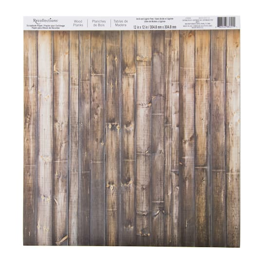 Wood Planks Scrapbook Paper By Recollections 12 X 12