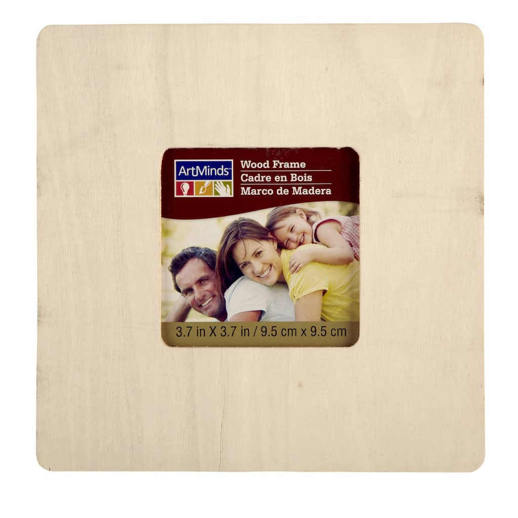 Artminds Unfinished Wood Frame 6 Pack 3 7 Quot X 3 7 Quot