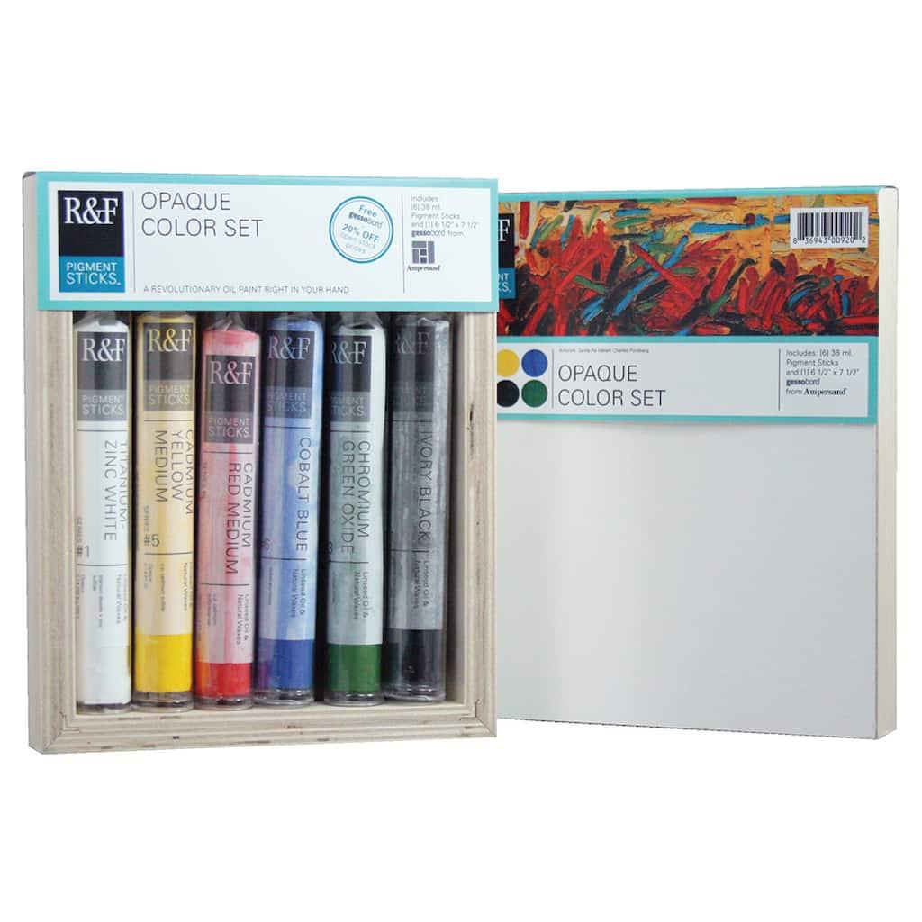 R F Handmade Paints Pigment Stick Set Opaque Color Set