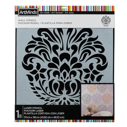 DIY Home Damask Wall Stencil by ArtMinds®